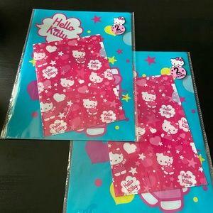 Hello Kitty Sanrio Folder Packs Lot of 2